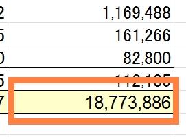 貯金額が1800万超に。年内に2000万円達成なるか?