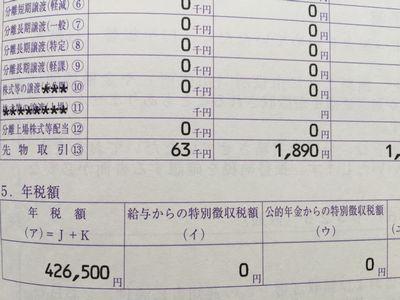 住民税42万6500円の巻